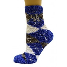 Kentucky Wildcats Arygle Fuzzy Lounge Socks