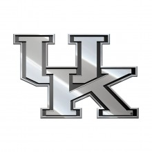 Kentucky Wildcats  Real Chrome Metal Auto Emblem