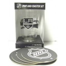 Los Angeles Kings Pint and Coaster Set