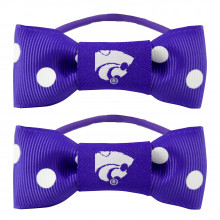 Kansas State Wildcats Bow Pigtail Holders
