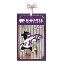 Kansas State Wildcats Corrugated Metal Ornament