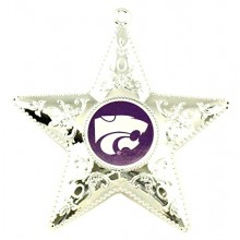 "Kansas State Wildcats 4"" Silver Star Ornament"