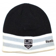 Los Angeles Kings Black with Gray Stripe Tip Beanie