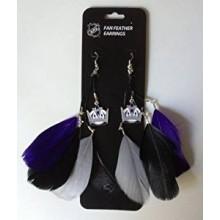 Los Angeles Kings Fan Feather Earrings