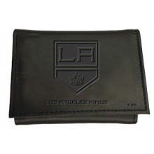 Los Angeles Kings  Black Leather Tri-Fold Wallet