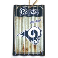 Los Angeles Rams Corrugated Metal Ornament