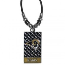 Los Angeles Rams Diamond Plate Rope Necklace, 20-Inch