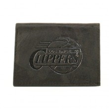 Los Angeles Clippers Black Leather Wallet