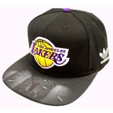 Los Angeles Lakers Boa Bill Adjustable Flat Bill Hat