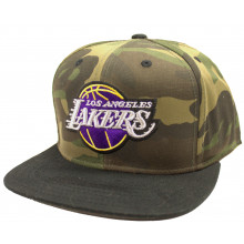 Los Angeles Lakers Camouflage Adjustable Flat Bill Hat