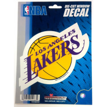 "L A Lakers 5"" x 6""  Die-Cut Window Decal"