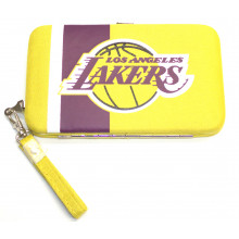 "L A Lakers Distressed Wallet Wristlet Case (3.5"" X .5"" X 6"")"