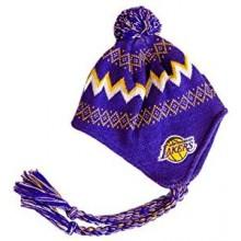 NBA Offically Licensed LA Lakers CHILD (4-7 yrs) Pom Tassel Beanie (Purple)