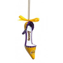 LA Lakers Team High Heel Shoe Ornament