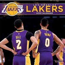 Los Angeles Lakers  12 x 12 Wall Calendar 2019