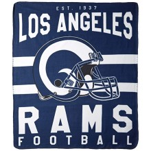 "Los Angeles Rams 50"" x 60"" Singular Fleece Throw Blanket"