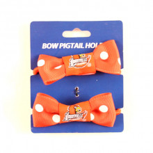 Louisville Cardinals Bow Pigtail Holders