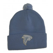 Atlanta Falcons Blue Cuffed Pom Knit Beanie Hat Cap