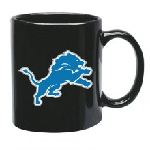 Detroit Lions 15 oz Black Ceramic Coffee Cup