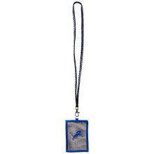 Detroit Lions Beaded Lanyard I.D. Wallet