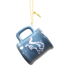 Detroit Lions Ceramic Mini Mug Ornament
