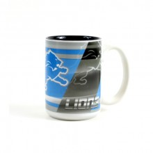 Detroit Lions 15oz Shadow Ceramic Mug