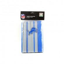 Detroit Lions 100 Count Team Color Straws