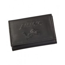 Detroit Lions Black Leather Tri-Fold Wallet