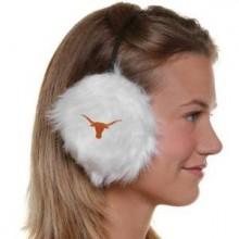 Texas Longhorns Embroidered Faux Fur Team Logo Earmuffs Cheermuffs