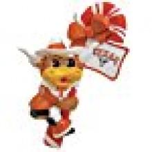 Texas Longhorns Candy Cane Mascot Ornament