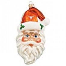 NCAA Texas Longhorns Santa Head Ornament