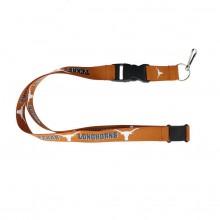 NCAA Texas Longhorns Team Color Breakaway Lanyard Key Chain