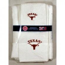 Texas Longhorn 3 Piece Towel Set White with Logo