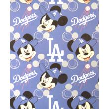 "Los Angeles Dodgers  40"" x 50"" Mickey Mouse Fleece Throw Blanket"