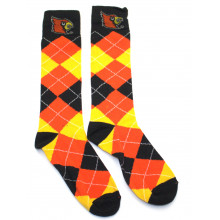 Louisville Cardinals Argyle Dress Socks