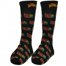 Louisville Cardinals Black Repeater Dress Socks