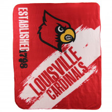 Louisville Cardinals Established Fleece Throw Blanket