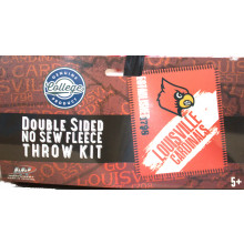Louisville Cardinals Double Sided No Sew Fleece Blanket Kit
