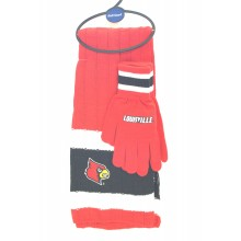 Louisville Cardinals Knit Scarf and Glove Set