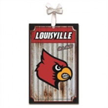 Louisville Cardinals Corrugated Metal Ornament
