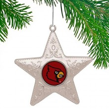 "Louisville Cardinals 4"" Silver Star Ornament"