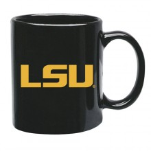LSU Tigers 15 oz Black Ceramic Coffee Cup