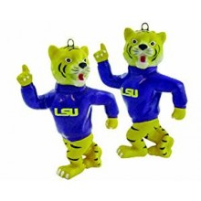 LSU Tigers 2-Piece Porcelain Figure Ornament Set