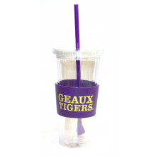 "LSU Tigers ""Geaux Tigers"" 22 oz Slogan Tumbler"