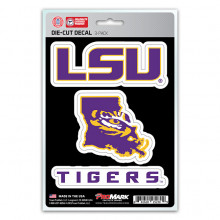 LSU Tigers 3 Pack Die Cut Team Decals