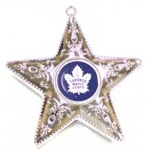 "Toronto Maple Leafs 4"" Silver Star Ornament"