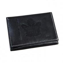 Toronto Maple Leafs  Black Leather Tri-Fold Wallet