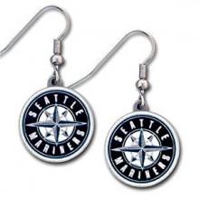 Seattle Mariners Logo Dangle Earrings