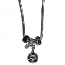 Seattle Mariners Euro Bead Charm Necklace