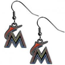 Miami Marlins Logo Dangle Earrings